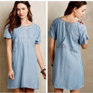 Holding Horses White Sands Chambray Tunic Dress
